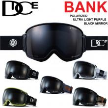 19-20 DICE ゴーグル ダイス BANK バンク NEW BK94362 [Polarized Gray/ULTRA Light Purple / Black mirror] 偏光レンズ スノ